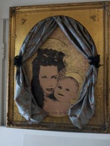 """""""Madonna & Child"""" Silkscreen and acrylic on panel"""